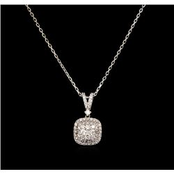 0.68 ctw Diamond Necklace - 14KT White Gold