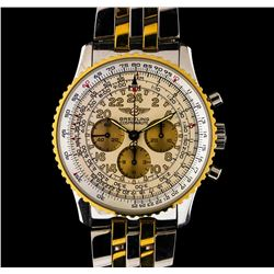 Breitling 18KT Two-Tone Navitimer Cosmonaute Men's Watch