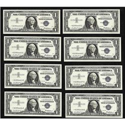 Lot of (8) Consecutive 1957 $1 Silver Certificate STAR Notes Uncirculated
