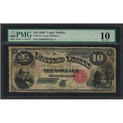 1880 $10 Jackass Legal Tender Note Fr.113 PMG Very Good 10