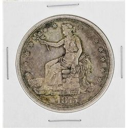 1875-CC $1 Seated Liberty Silver Trade Dollar Coin