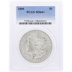 1899 $1 Morgan Silver Dollar Coin PCGS MS64+