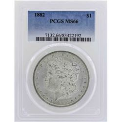 1882 $1 Morgan Silver Dollar Coin PCGS MS66