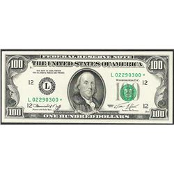 1974 $100 Federal Reserve STAR Note
