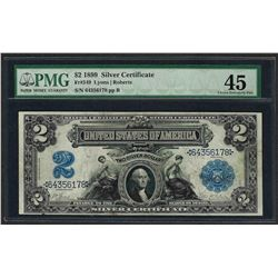 1899 $2 Mini-Porthole Silver Certificate Note Fr.249 PMG Choice Extremely Fine 4