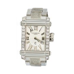 Charriol Columbus Stainless Steel Watch with 0.80 ctw Diamond Bezel
