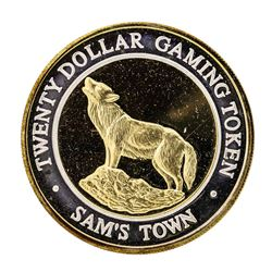 .999 Silver Sam's Town Las Vegas $20 Casino Limited Edition Gaming Token