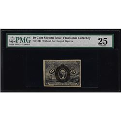 March 3, 1863 Second Issue 10 Cent Fractional Currency Note PMG Very Fine 25