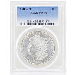 1883-CC $1 Morgan Silver Dollar Coin PCGS MS62
