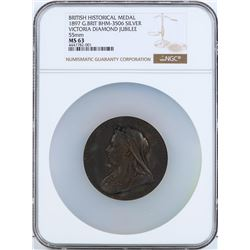 1897 Great Britain British Historical Medal NGC MS63
