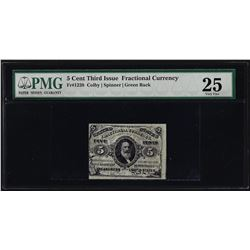 March 3, 1863 Third Issue 5 Cent Fractional Currency Note PMG Very Fine 25