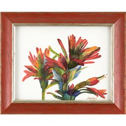 """Indian Paintbrush"" by Nancy Dunlop Cawdrey"