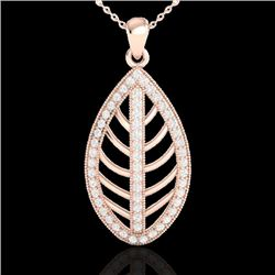 1 CTW Micro Pave VS/SI Diamond Designer Necklace 14K Rose Gold - REF-84H8A - 21545