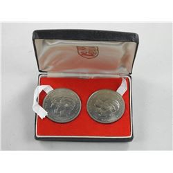 1873-1973. Prince of Wales and Lady Diana Coin Set