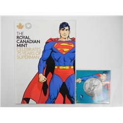 2015 Superman $20 Fine Silver Coin w/ Official RCM