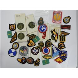 Box Lot of Military and Police Badges. Collector E