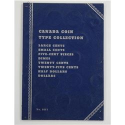 Canada Coin Type Collection Board. Includes 18 Coi