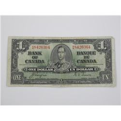 Bank of Canada 1937 $1. C/T.