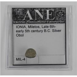 Ancient Greek Coin, From Miletos in Ionia, 6th-5th