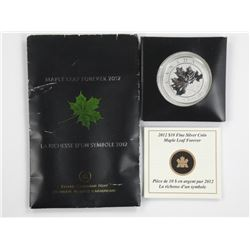 2012 $10 Maple Leaf Forever - Pure Silver Coin