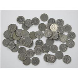 56x Germany 50 Pfennig. Coins from the Federal Rep