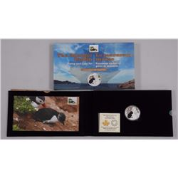 2014 - $20 Baby Puffin and Stamp .9999 Fine Silver