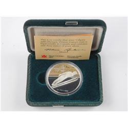 925 Sterling Silver Proof $20.00 Olympic Coin 'Ski