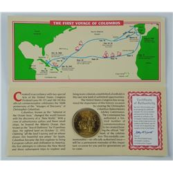 (1492-1992) 'Christopher Columbus' Gold Plated - 3