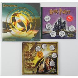 3x Movie Coin Sets, UNC: Harry Potter - Lord of th