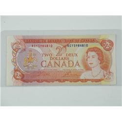 Bank of Canada - 1974 Two Dollar Note. L/B