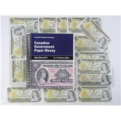 14x Bank of Canada 1973 One Dollar Notes, Plus Cha
