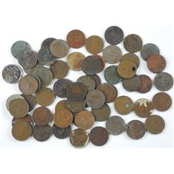 60x Canada One Cent. Mix of George and Victoria