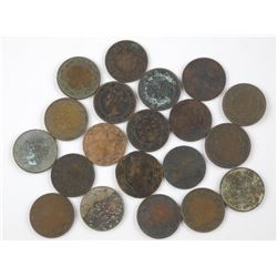 20x Canada Large One Cent. Mix of George and Victo