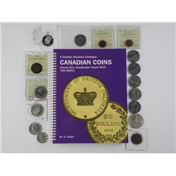 16x Canada and USA Mixed Coins, Includes - ICCS, C