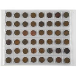 Lot (48) NFLD One Cent Coins