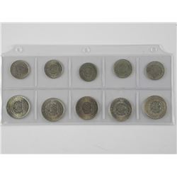 10x Silver Coins - 1940's US - $110 CAT (KG)