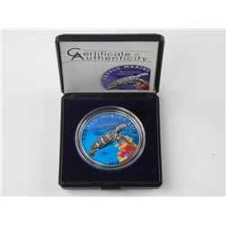 Coloured Sea Turtle - $1.00 Proof Sterling Silver