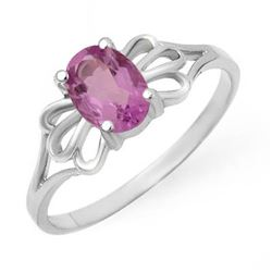 0.75 CTW Amethyst Ring 10K White Gold - REF-10W2F - 12420
