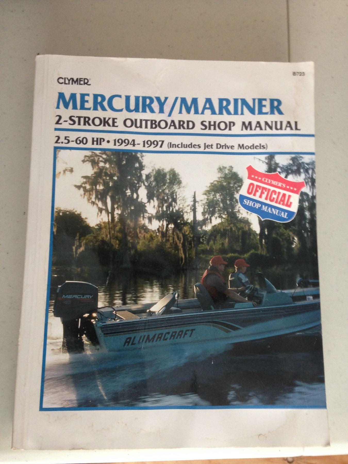 Image 1 : Mercury/Mariner 2 Stroke Outboard Shop Manual 2.5 - 60HP 1994 -