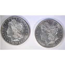 1879-S & 1879-O MORGAN DOLLARS GEM