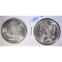 1881-S & 1881-O MORGAN DOLLARS GEM
