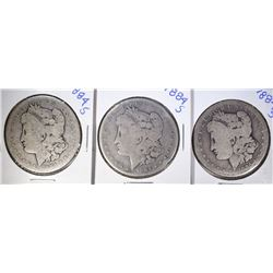 3 - 1884-S MORGAN DOLLARS