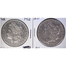 1892 & 1897-O MORGAN DOLLARS AU's