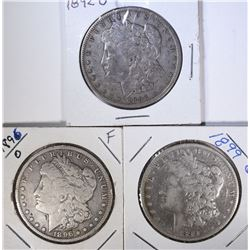 1892-O, 1896-O, 1899-O MORGAN DOLLAR