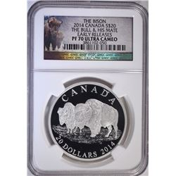 2014 $20 CANADA BISON NGC PF70 ULTRA