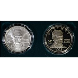 1998 Black Patriots Commemorative 2-Piece Set.