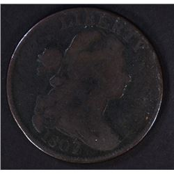 1807/6 DRAPED BUST LARGE CENT VG/F