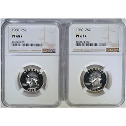 2-NGC GRADED 1960 WASHINGTON QUARTERS: