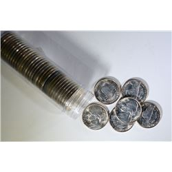 BU ROLL OF 1942-S SILVER JEFFERSON WAR NICKELS