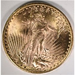 1924 $20 ST GUADENS GOLD